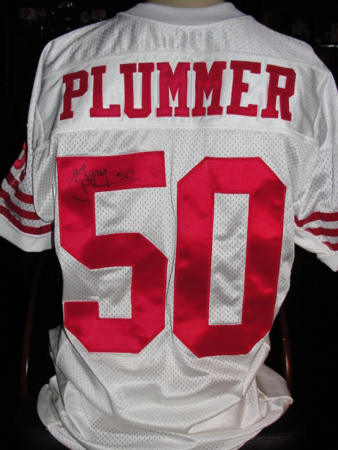 a03eb3f5ddc San Francisco 49ers  50 Gary Plummer Autographed Game Used Worn Issued  Jersey
